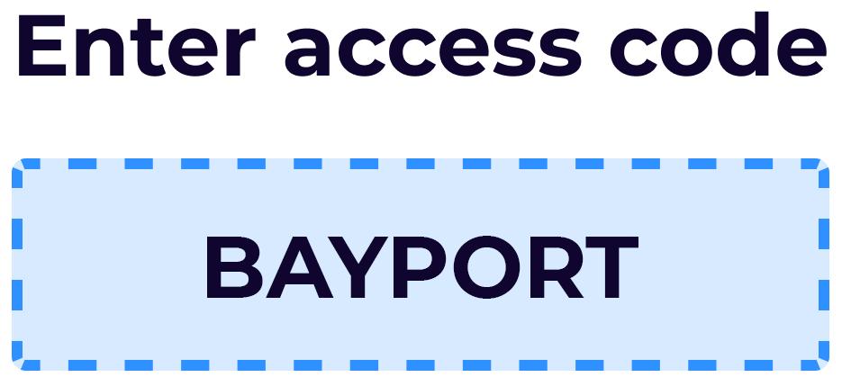 Zogo access code BAYPORT