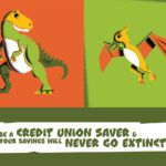 illustration of dinosaurs and youth month slogan