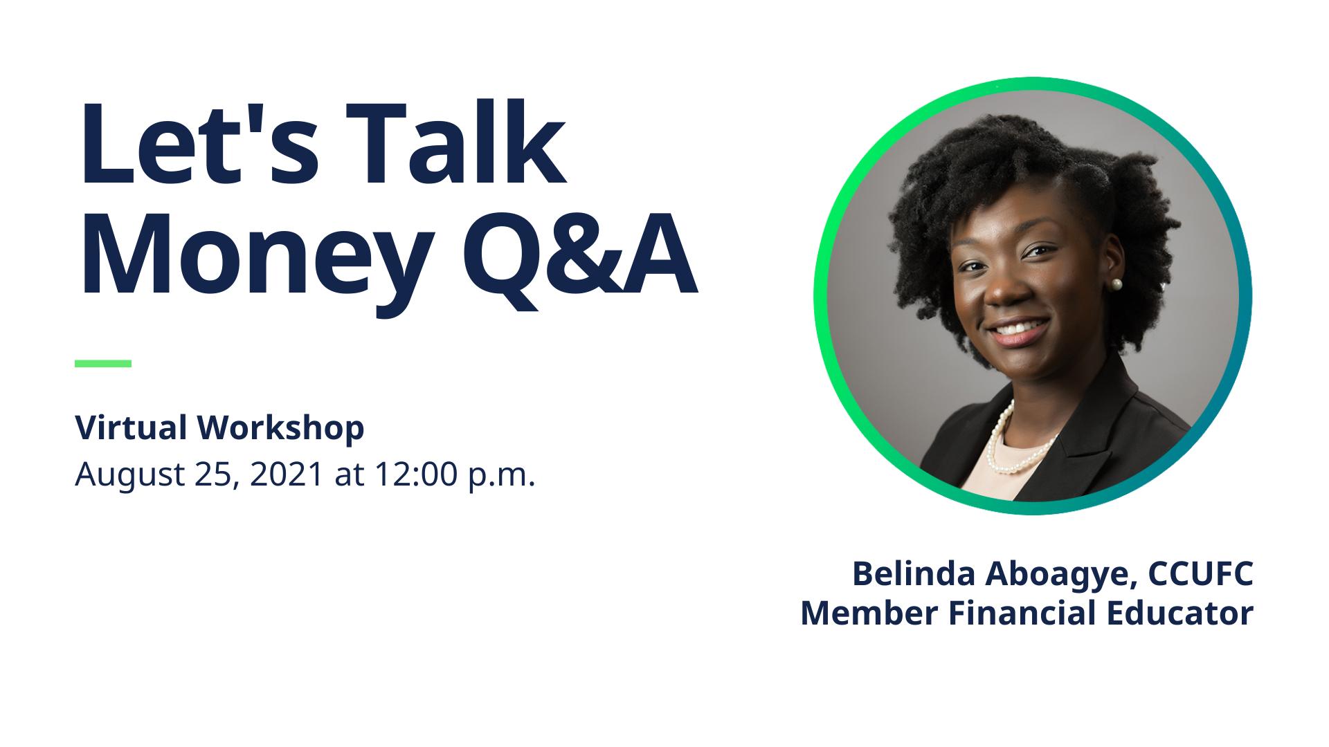 Let's Talk Money Q&A